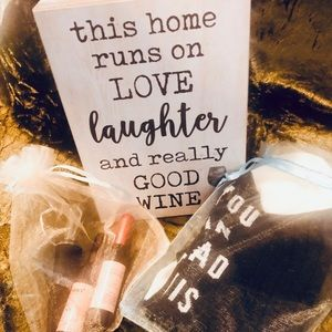 Wine lovers gift set! Wine Lip tint socks & more!
